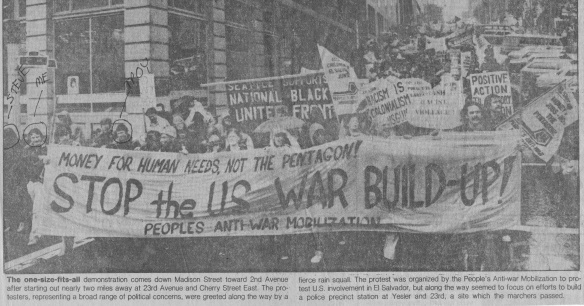 Seattle Rally May 3 1981