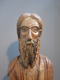 13th century wood statue of Saint Elias (the Prophet Elijah), Cathedral of St. Andrew, Amalfi.