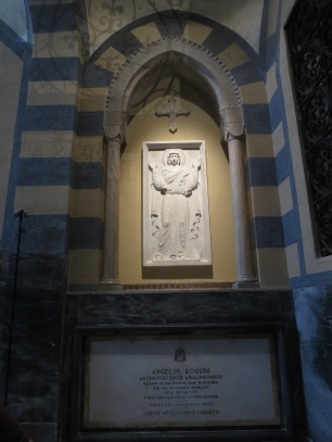 Angelus Rossini, Archbishop of Amalfi a long time ago. Cathedral of St. Andrew, Amalfi.