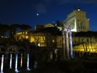 The Forum at night.