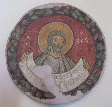 """Scuola Romana, """"Il Profeta Mose,"""" 1120-30."""