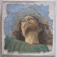 """Melozzo da Forli, """"Group of Angel Musicians, Groups of Cherubs and Apostles."""""""