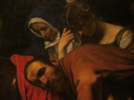 "Detail, Carravaggio, ""Deposition."""
