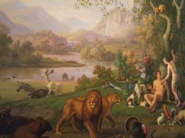 """Wenzel Peter, """"Adam and Eve in the Garden of Eden."""""""