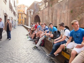 Pantheon, in the back where the kids hang out.