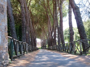 Along the Via Appia.