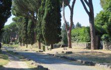 Along the Via Appia.