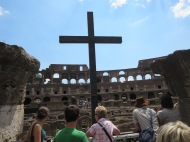 Christian martyr's memorial, Colosseum.