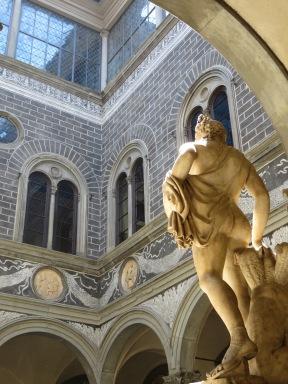 "Florence: Palazzo Medici Riccardo.""Orpheus enchanting Cerberus,"" Baccio Bandinelli."