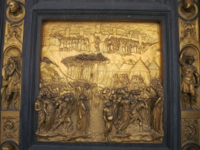 Florence: Bronze doors of the Baptistry.