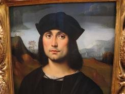 """Florence: Galleria degli Uffizi. Il Francia, """"Portrait of Evangelista Scappi."""""""