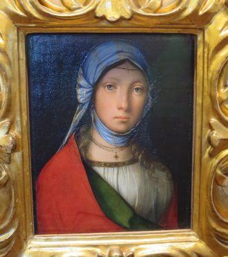 """Florence: Galleria degli Uffizi. Boccaccino, """"Zingarella."""""""