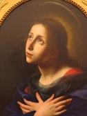 """Florence: Galleria degli Uffizi. Carlo Dolci, """"Virgin of the Annunciation."""""""