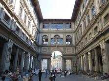 Florence: Courtyard of Galleria degli Uffizi.