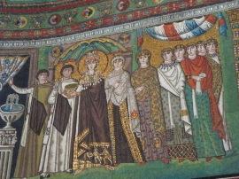 Ravenna: Basilica di San Vitale. Empress Theodora and her retinue.