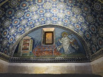 Ravenna: The Mausoleum of Galla Placidia. St. Lawrence in triumph.