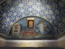 Ravenna: The Mausoleum of Galla Placidia. St. Lawrence in triumph.