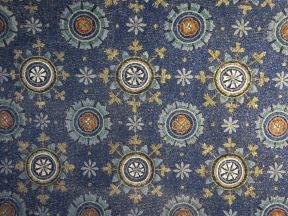 "Ravenna: The Mausoleum of Galla Placidia. Vault decoration, ""The Garden of Eden."""