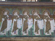 Ravenna: Basilica di Sant'Apollinare Nuovo. The Holy Virgins.