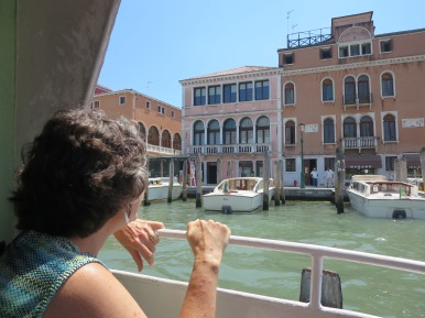 Venice: First view from the vaporetto.