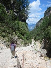 Schlern: the descent.