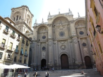 Granada: In front of the Cathedral.
