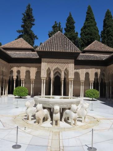 Granada: La Alhambra. Court of the Lions.