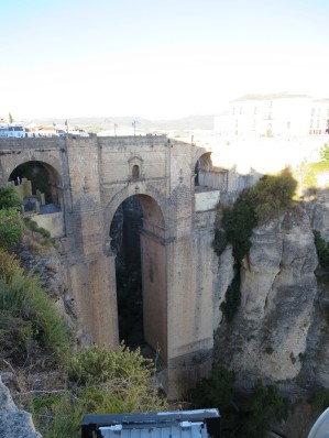 Ronda: Puente Nuevo, the stone bridge spanning the gorge.