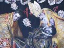 """Toledo, Iglesia de Santo Tomé: El Greco, """"The Burial of the Count of Orgaz."""""""