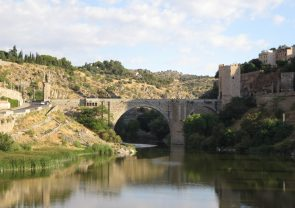 Toledo: Medieval Puente de San Martín on the River Tagus.