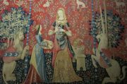 "Paris: The Musée national du Moyen Âge. ""The Lady and the Unicorn"" tapestry."