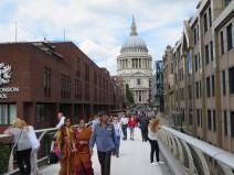 London: St. Paul's form the Millennium Bridge.