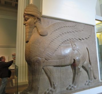 London: British Museum, Human-Headed Winged Lion from Nimrud, Assyria.