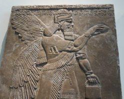 London: British Museum, Protective Spirit from Nimrud, Assyria.