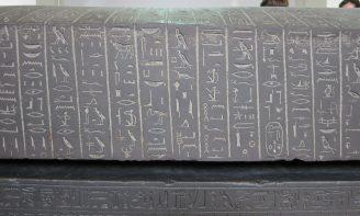 London: British Museum, Black schist sarcophagus of Ankhnesneferibre, Thebes.