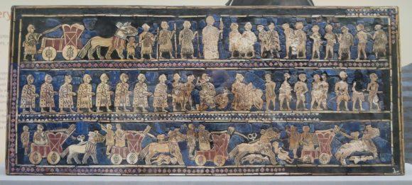 London: British Museum, The Standard of UR, 2500 BC.
