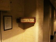 London: The War Rooms, weather notice.