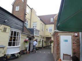 East Dorset: Where we ate in Wimborne Minster.