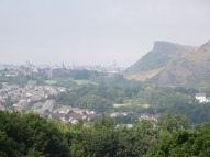 View of Edinburgh, with Arthur's Seat, from Craigmillar Castle.