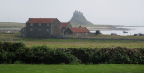 Lindisfarne: view of the castle.